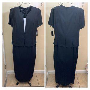 ADG Maxi Dress Short Sleeve Black Size 16